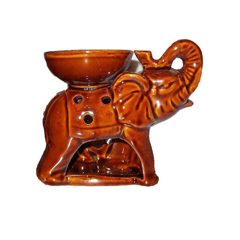 Аромалампа-Слон-кафяв